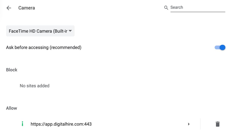 digitalhire google chrome video access