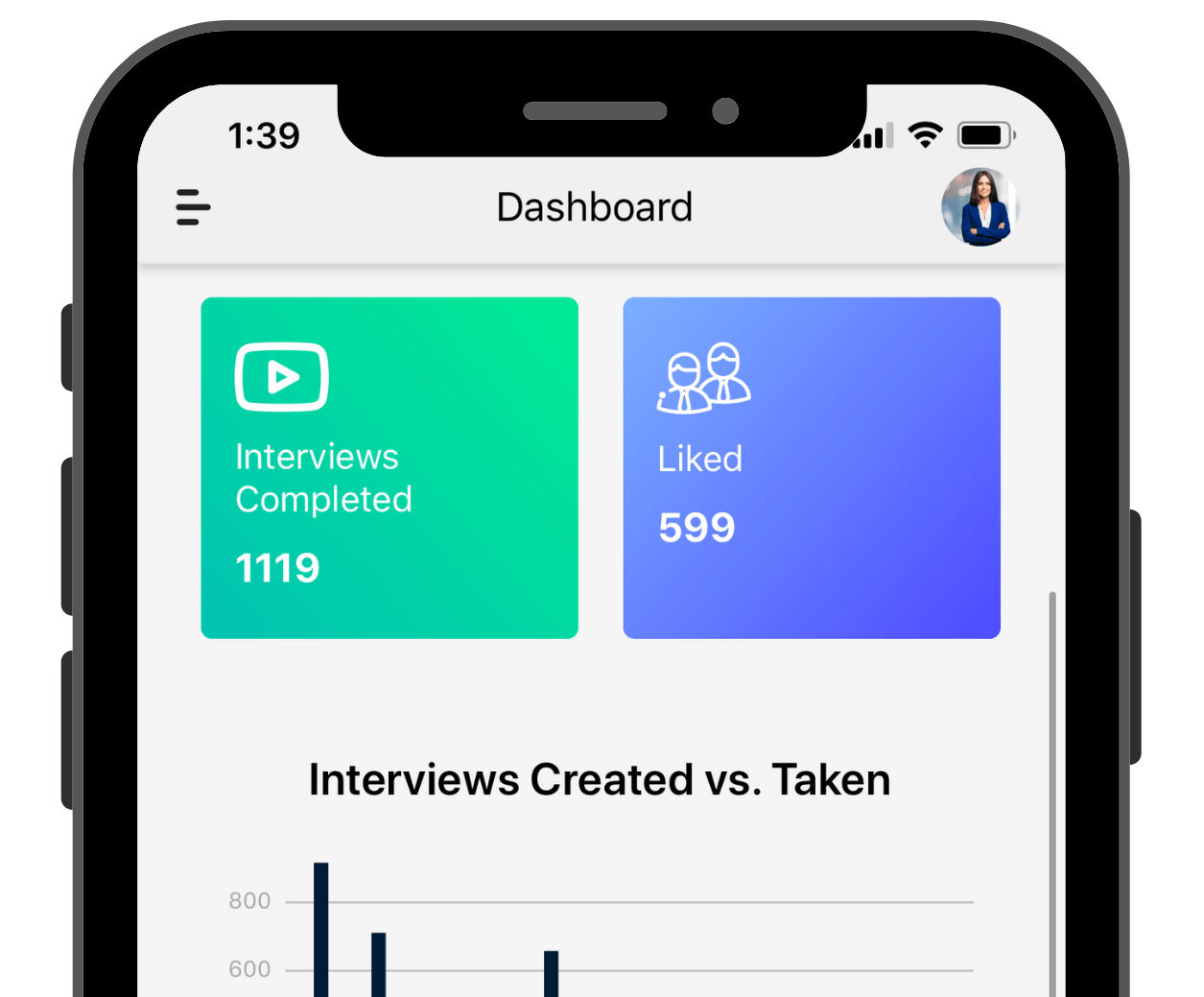 App features displaying Interview Information